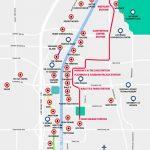 Monorail, Tram & Strip Map | Las Vegas Maps | Vegasjourney   Printable Map Of Vegas Strip 2017