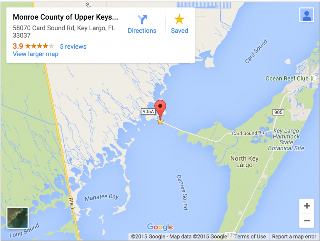 Monroe County Considers Automating Card Sound Toll Booth | Wlrn - Google Maps Key West Florida
