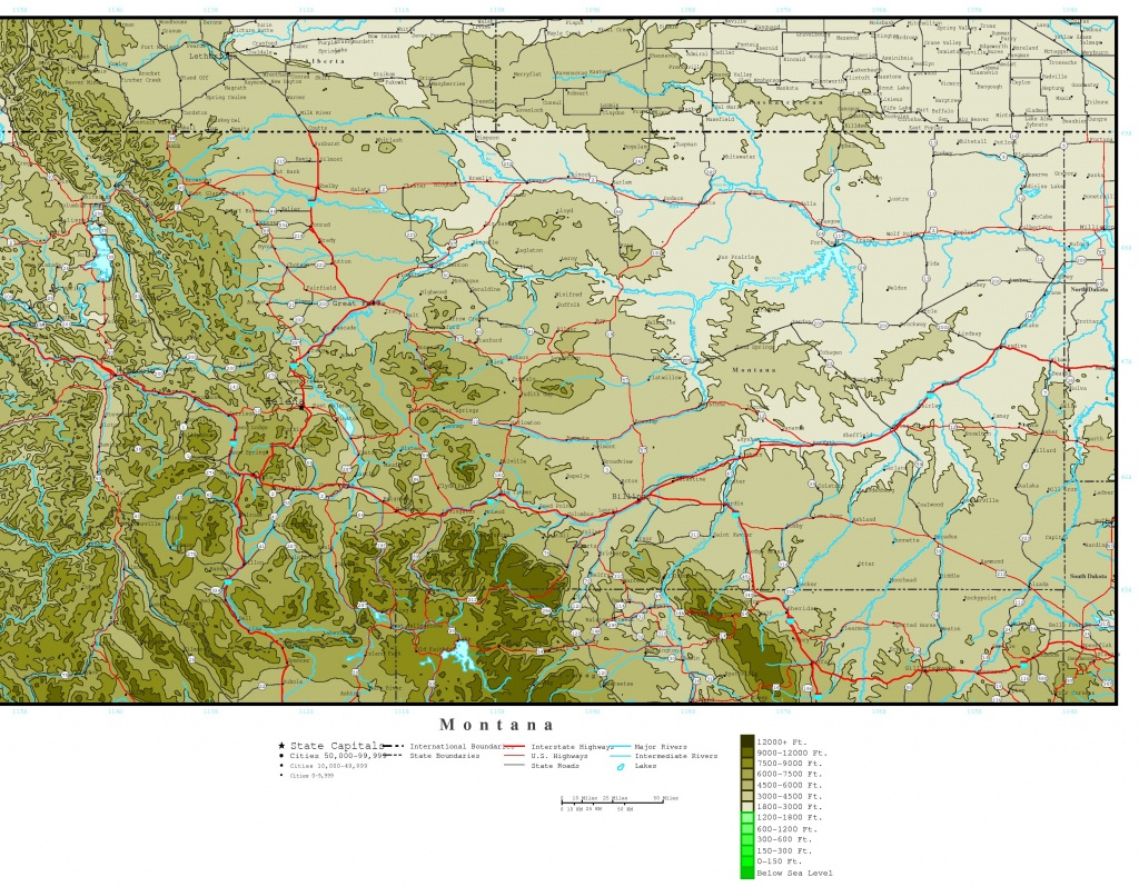 Montana Elevation Map - Interactive Elevation Map Of Florida