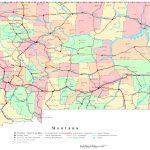 Montana Printable Map   Printable Road Maps By State