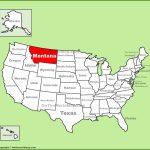 Montana State Maps   Usa   Maps Of Montana (Mt)   Printable Map Of Montana