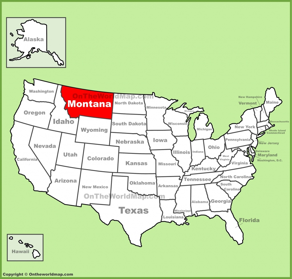 Montana State Maps | Usa | Maps Of Montana (Mt) - Printable Map Of Montana