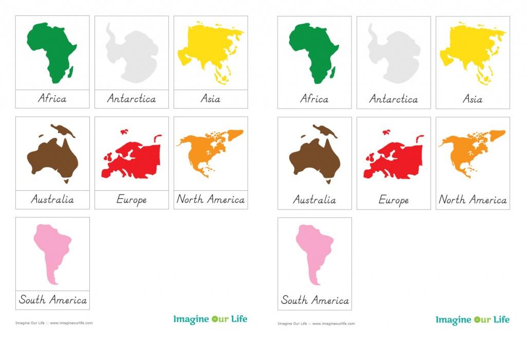 Montessori Continents Map & Quietbook With 3-Part Cards | Imagine - Montessori World Map Printable
