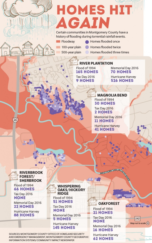 Montgomery County Homes Vulnerable To Repeat Flooding Issues - Conroe Texas Flooding Map
