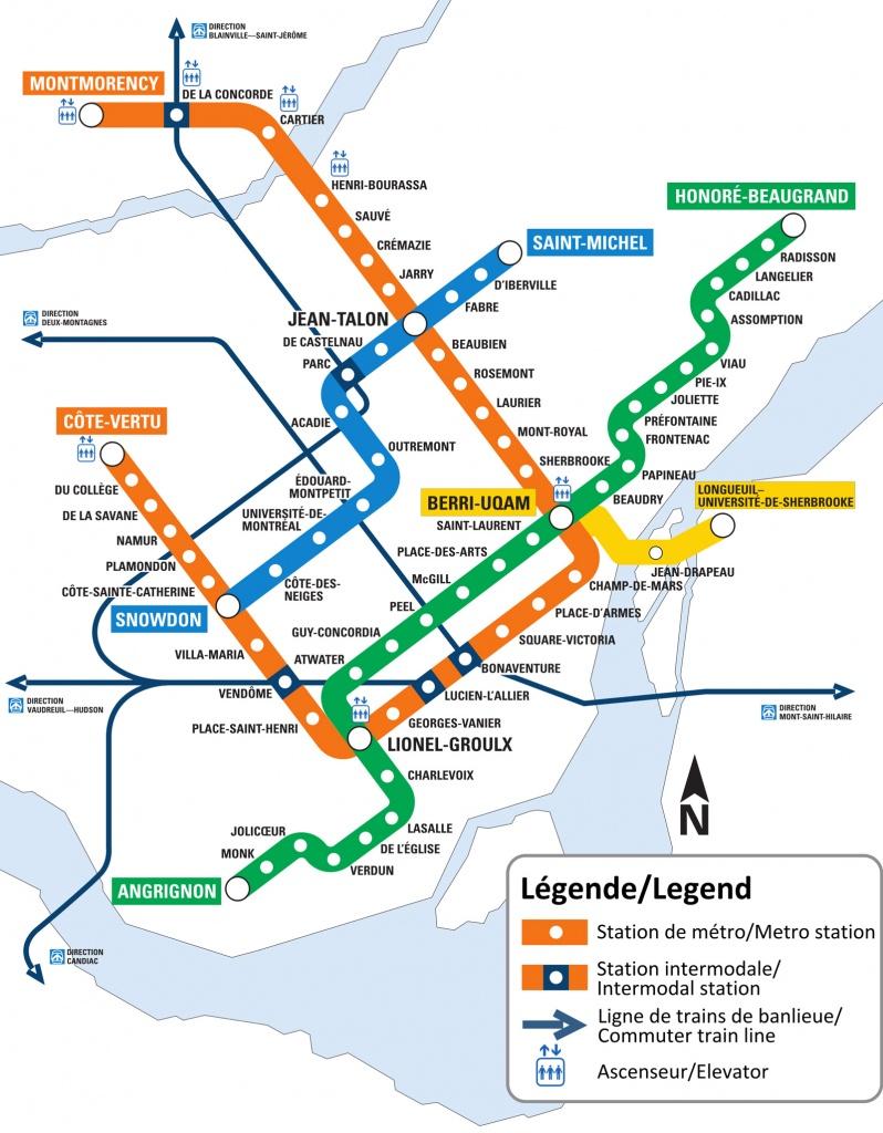 Montreal Metro Map - Go! Montreal Tourism Guide - Printable Metro Map