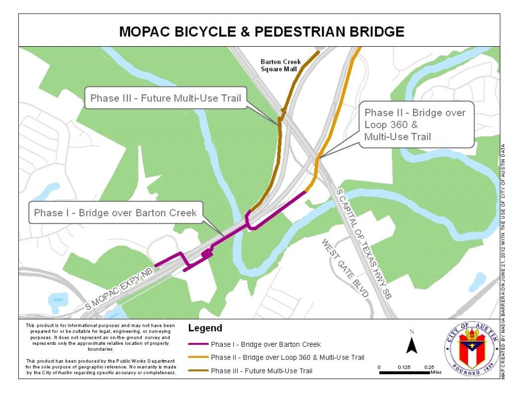 Mopac Mobility Bridges | Austintexas.gov - The Official Website Of - Austin Texas Bike Map