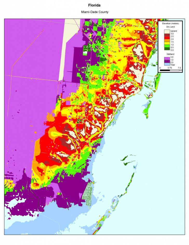 Florida Sea Level Map
