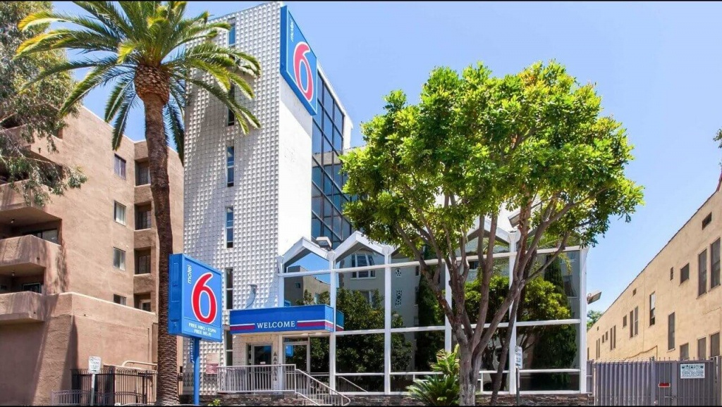 Motel 6 Hollywood Los Angeles Hotel   Hotels Near Hollywood Walk Of Fame - Motel 6 Locations California Map