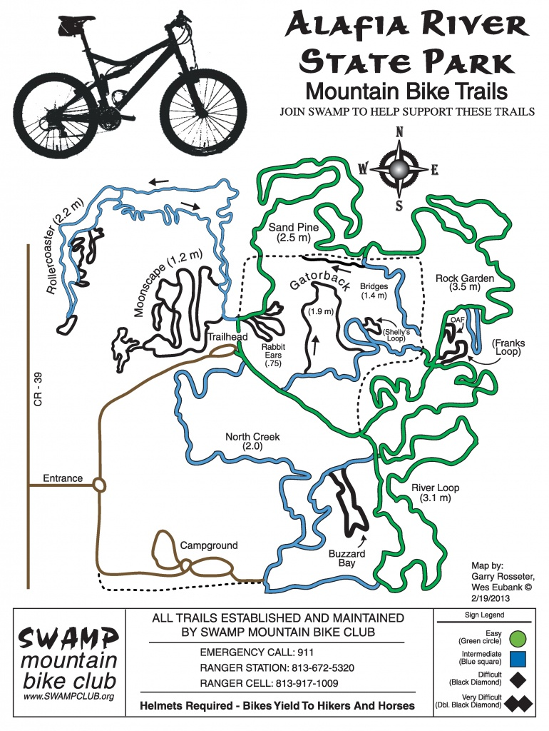 Mountain Biking In Florida | The Trail Mayor - Florida Mountain Bike Trails Map