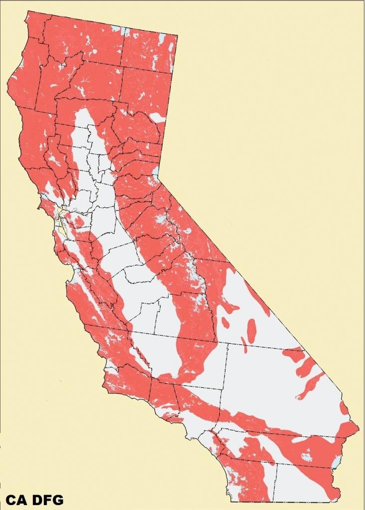 Mountain Lions Drop Deer Population In California   Harvesting Nature - Mountain Lions In California Map