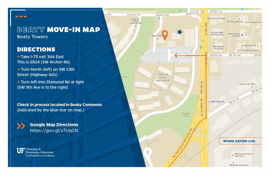 Move-In Maps | Uf Housing #wheregatorslive - Uf Campus Map Printable