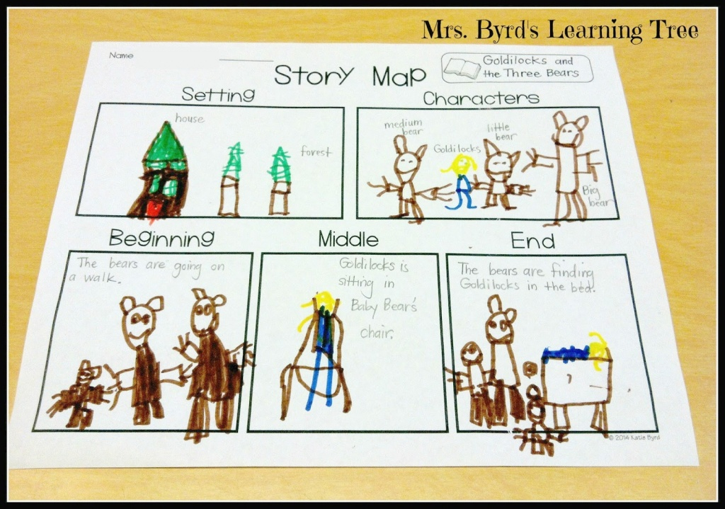 Mrs. Byrd's Learning Tree: Story Map Freebie! - Printable Story Map For Kindergarten