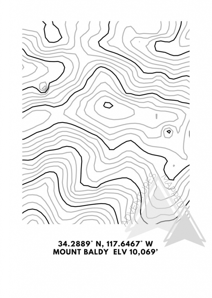Mt. Baldy Topographic Map Printable Digital Download Gift | Etsy - Topographic Map Printable