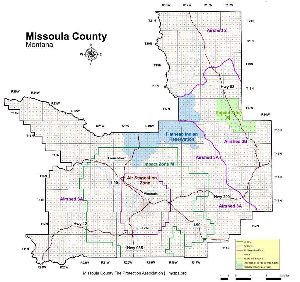Mt County Map And Travel Information | Download Free Mt County Map - Printable Missoula Map