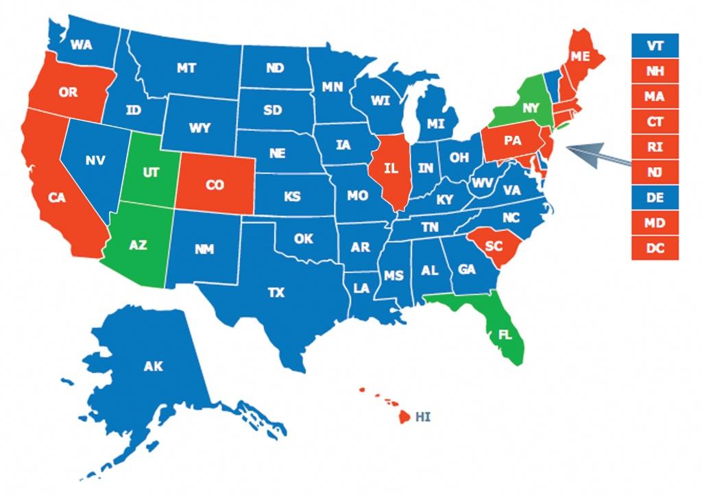 Multi-State Ccw Class - Florida Non Resident Ccw Reciprocity Map