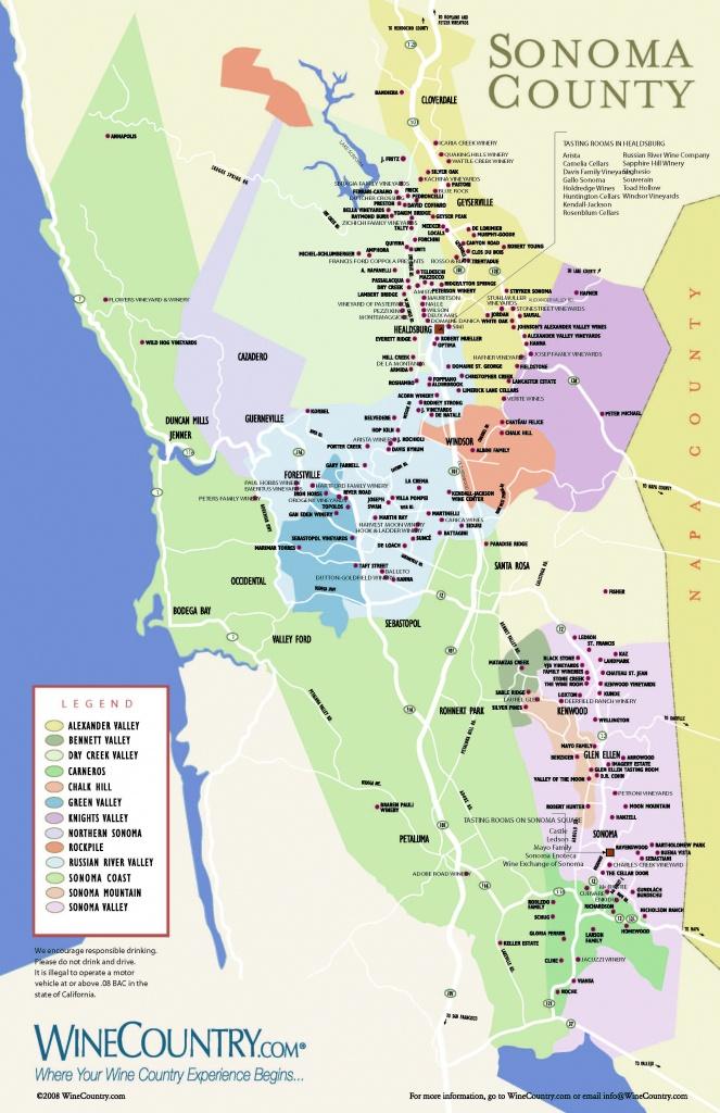 Sonoma California Map