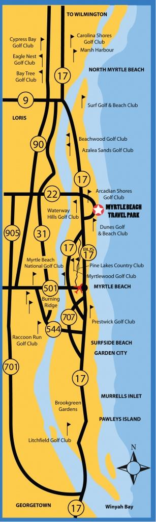 Myrtle Beach Florida Map