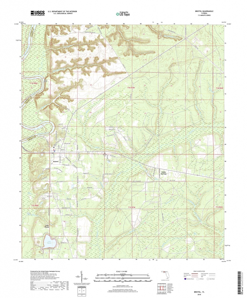 Mytopo Bristol, Florida Usgs Quad Topo Map - Bristol Florida Map
