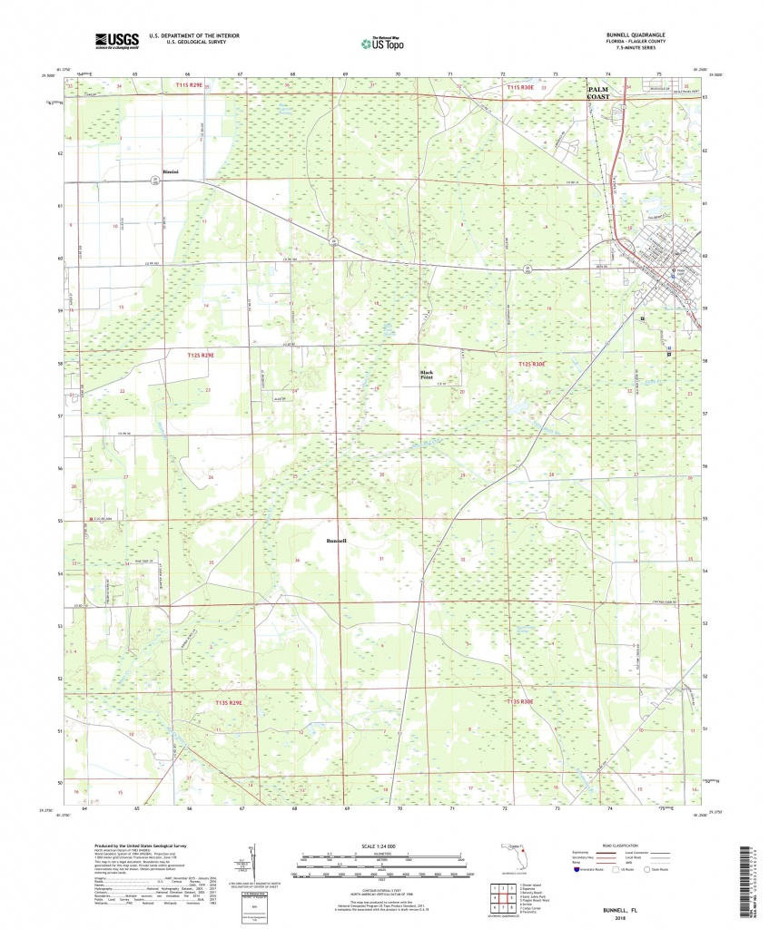 Mytopo Bunnell, Florida Usgs Quad Topo Map - Bunnell Florida Map