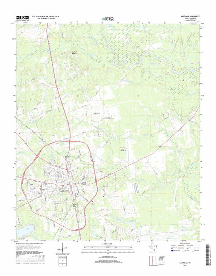 Carthage Texas Map