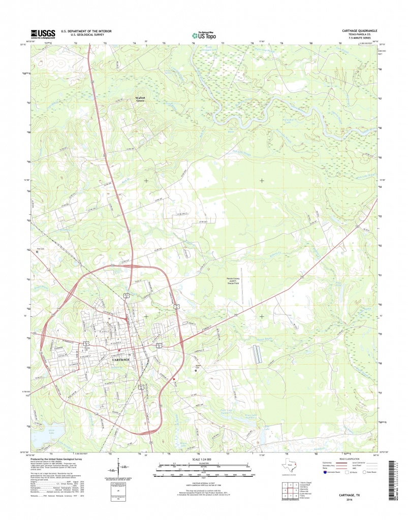 Mytopo Carthage, Texas Usgs Quad Topo Map - Carthage Texas Map