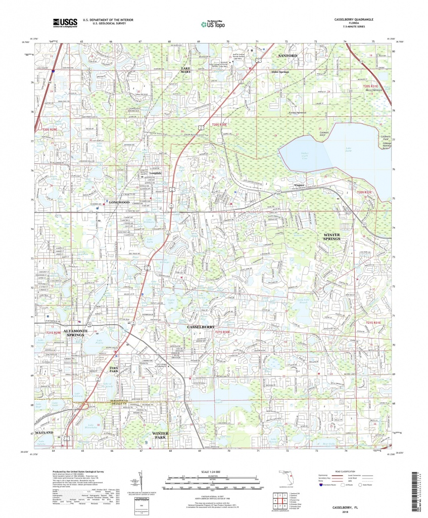 Mytopo Casselberry, Florida Usgs Quad Topo Map - Casselberry Florida Map
