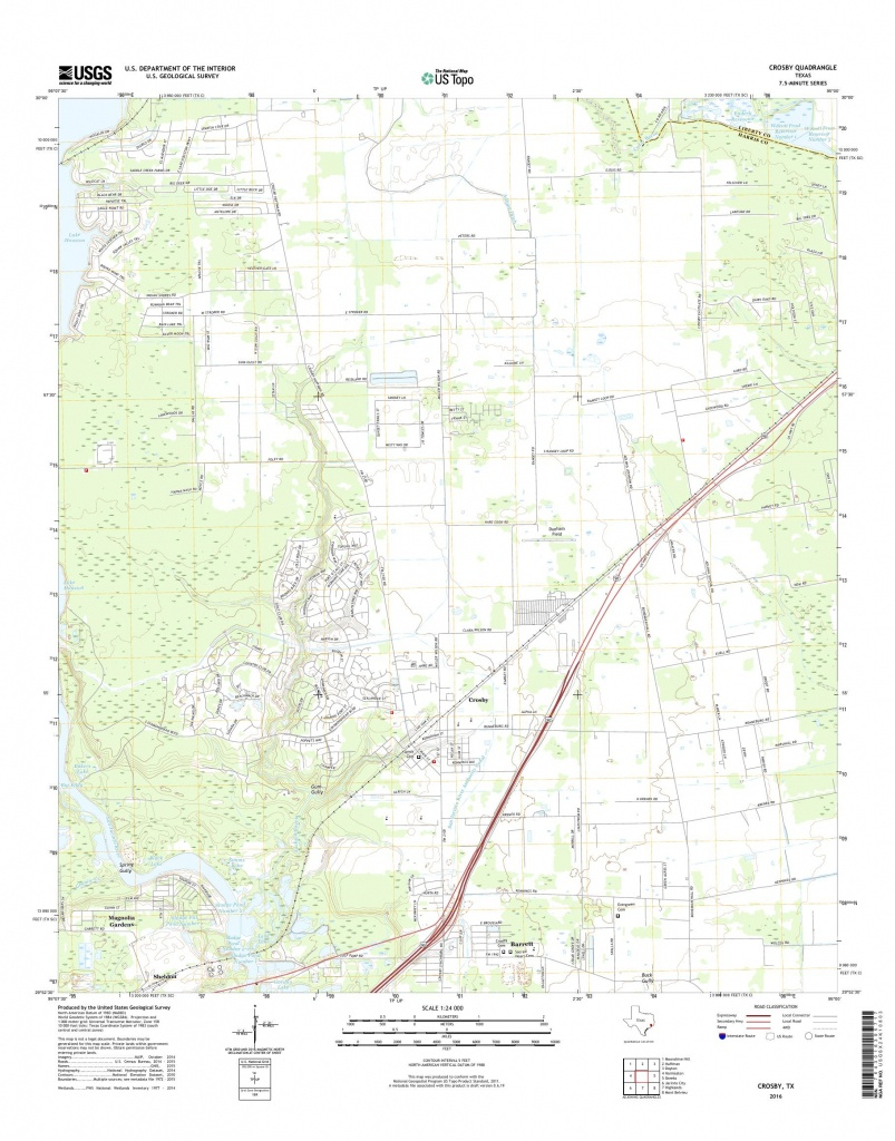 Mytopo Crosby, Texas Usgs Quad Topo Map - Crosby Texas Map
