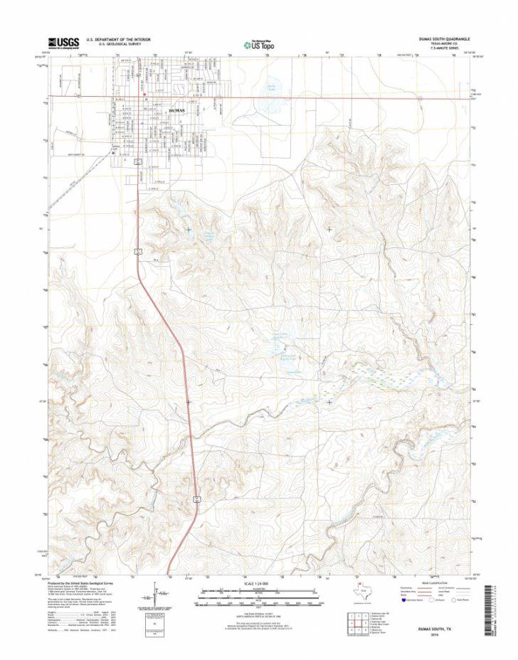 Dumas Texas Map