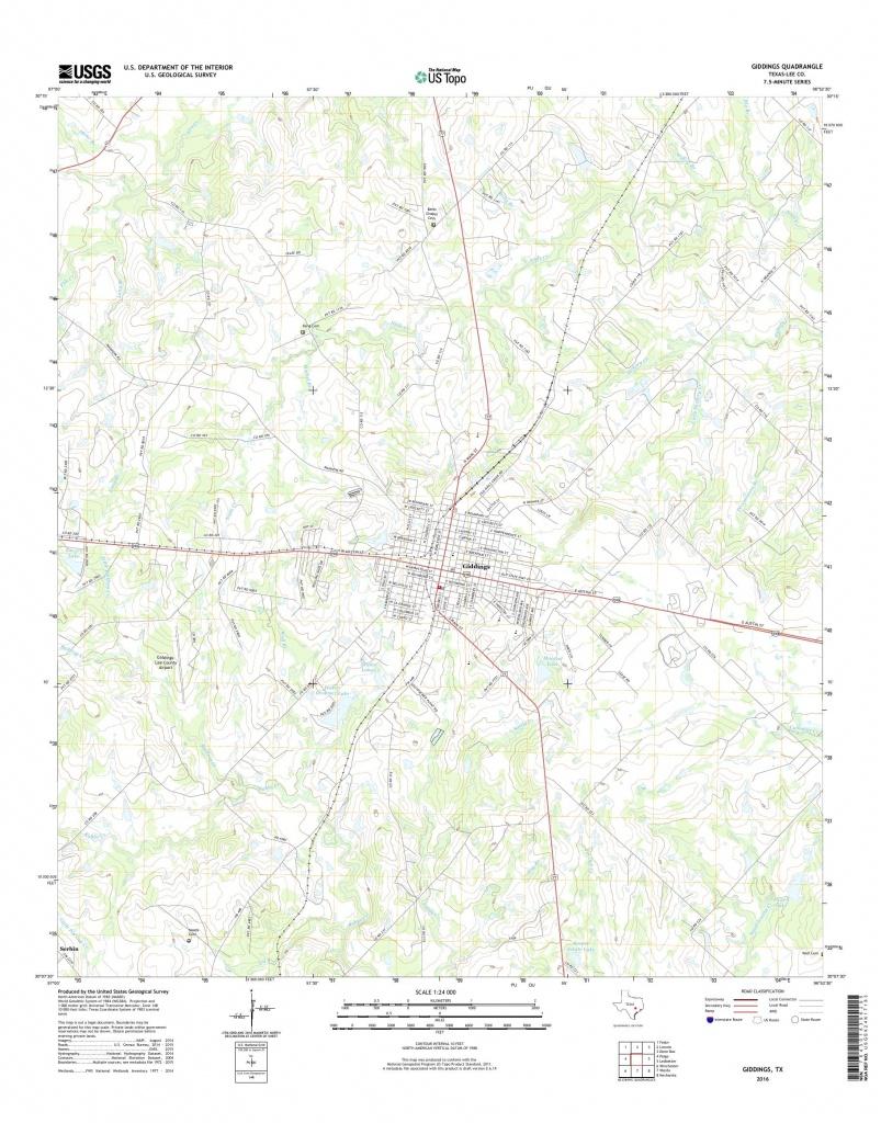 Mytopo Giddings, Texas Usgs Quad Topo Map - Giddings Texas Map