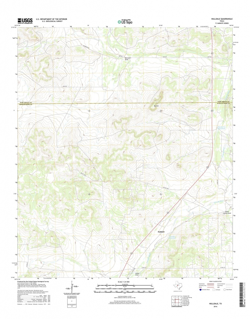 Mytopo Hulldale, Texas Usgs Quad Topo Map - Hull Texas Map