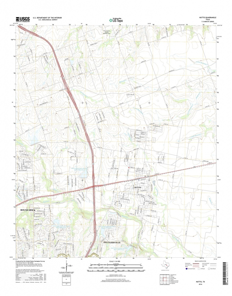 Mytopo Hutto, Texas Usgs Quad Topo Map - Hutto Texas Map
