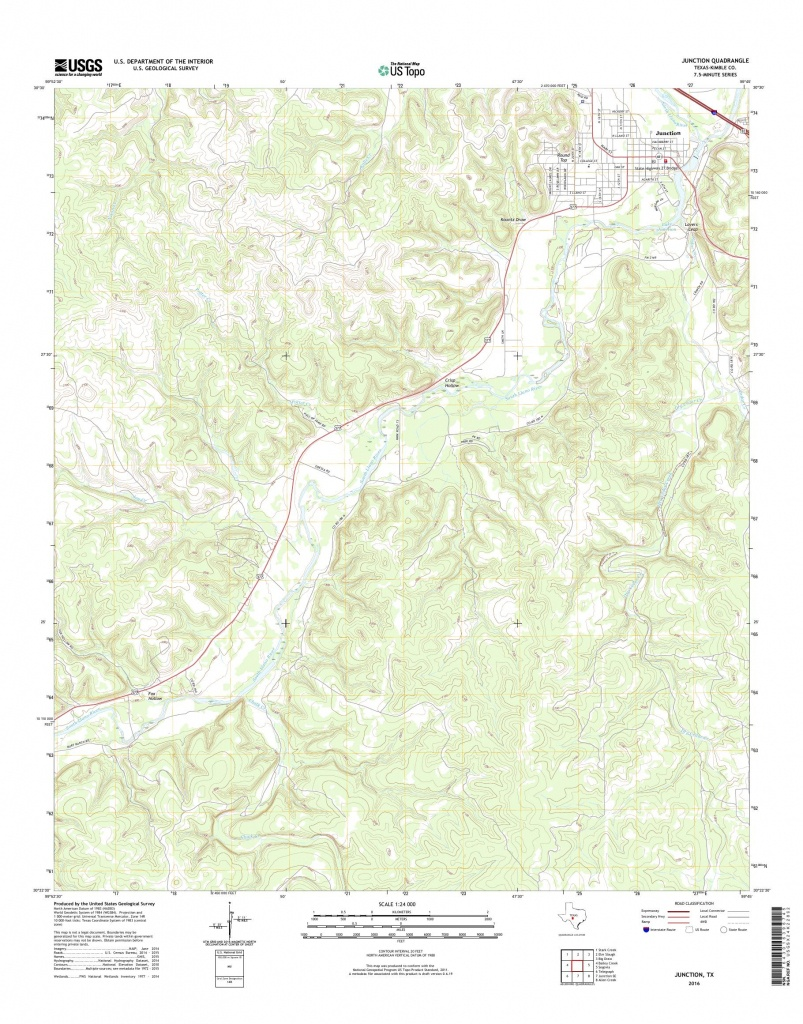 Mytopo Junction, Texas Usgs Quad Topo Map - Junction Texas Map