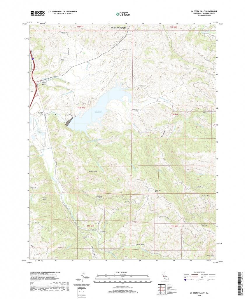 Mytopo La Costa Valley, California Usgs Quad Topo Map - La Costa California Map
