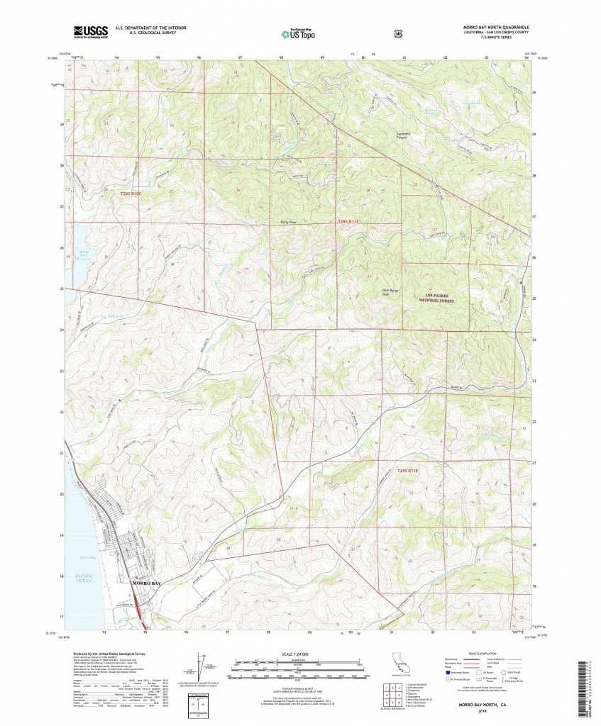 Mytopo Morro Bay North, California Usgs Quad Topo Map - Morro Bay California Map