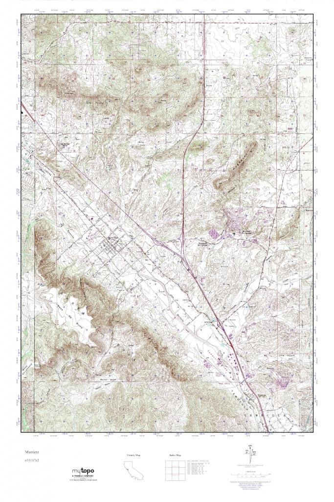 Mytopo Murrieta, California Usgs Quad Topo Map - Usgs Topo Maps California