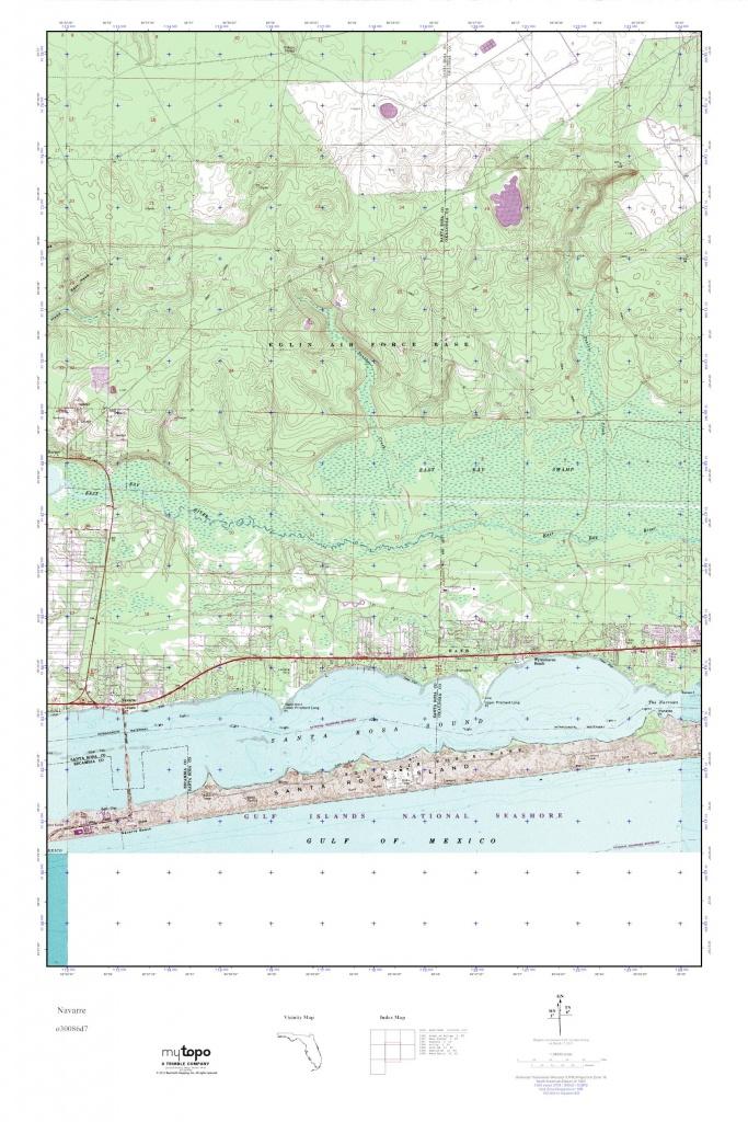Mytopo Navarre, Florida Usgs Quad Topo Map - Navarre Florida Map