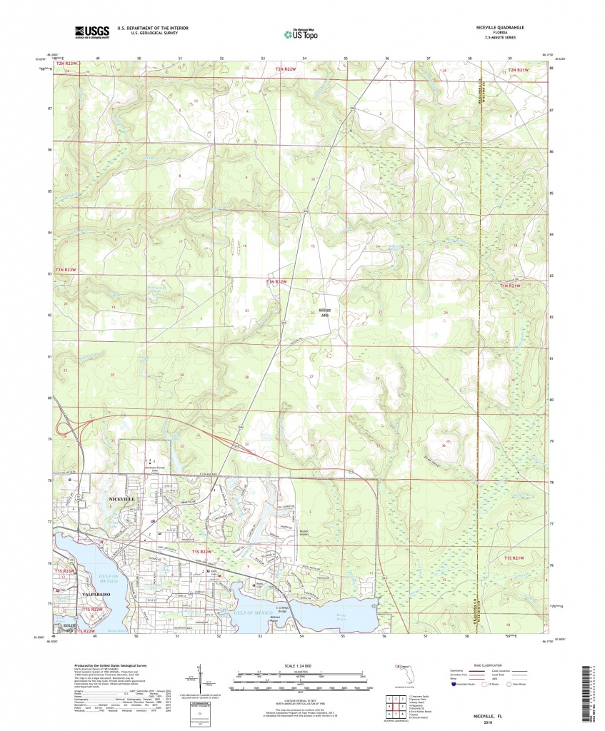 Mytopo Niceville, Florida Usgs Quad Topo Map - Niceville Florida Map