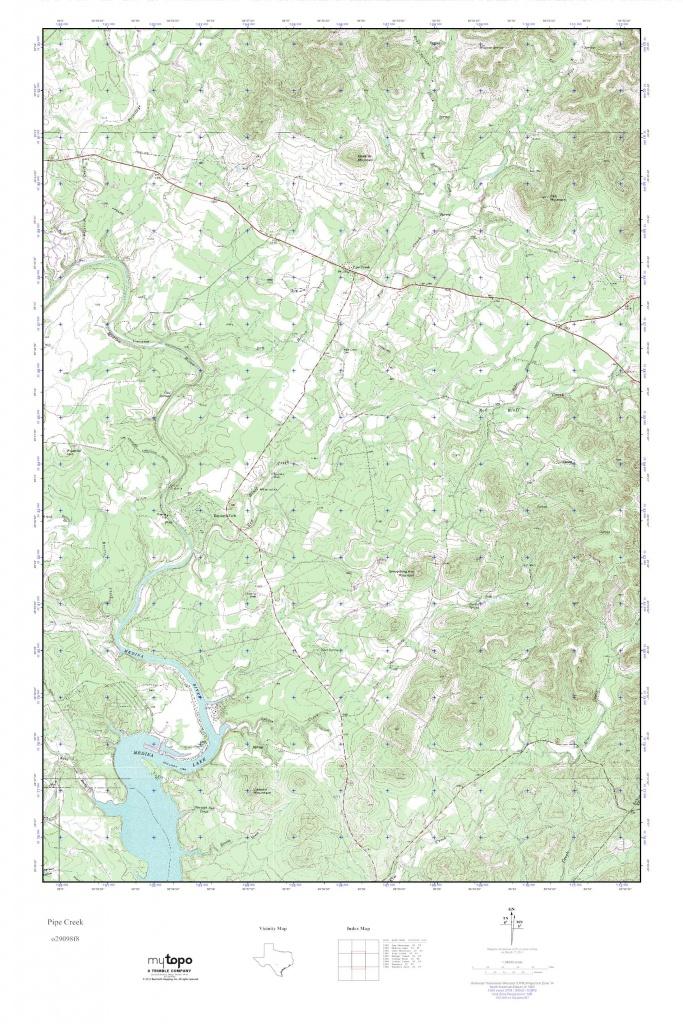 Mytopo Pipe Creek, Texas Usgs Quad Topo Map - Pipe Creek Texas Map