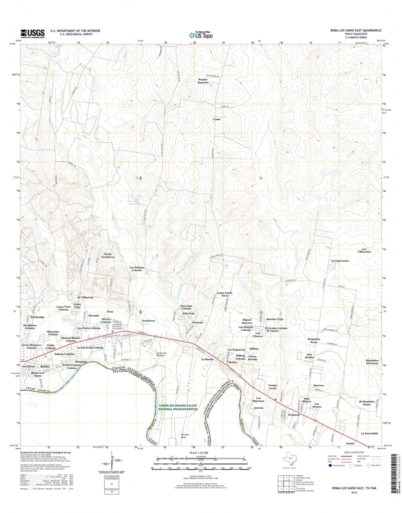 Mytopo Roma-Los Saenz East, Texas Usgs Quad Topo Map - Roma Texas Map