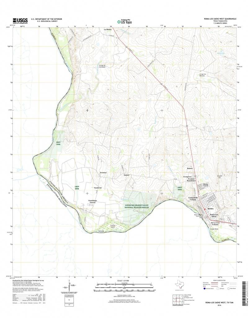Mytopo Roma-Los Saenz West, Texas Usgs Quad Topo Map - Roma Texas Map