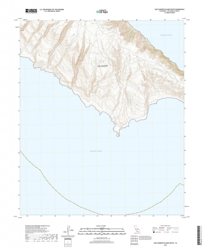 Mytopo San Clemente Island South, California Usgs Quad Topo Map - San Clemente California Map