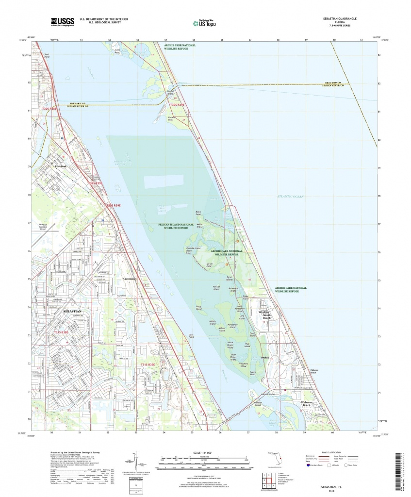 Mytopo Sebastian, Florida Usgs Quad Topo Map - Sebastian Florida Map
