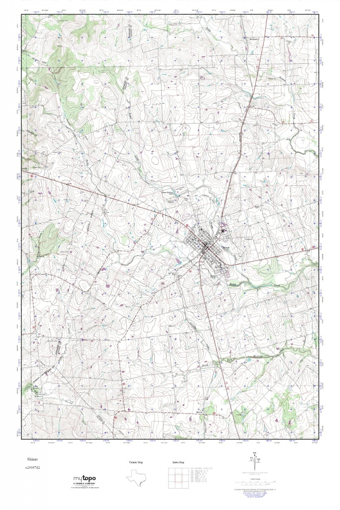Mytopo Shiner, Texas Usgs Quad Topo Map - Shiner Texas Map