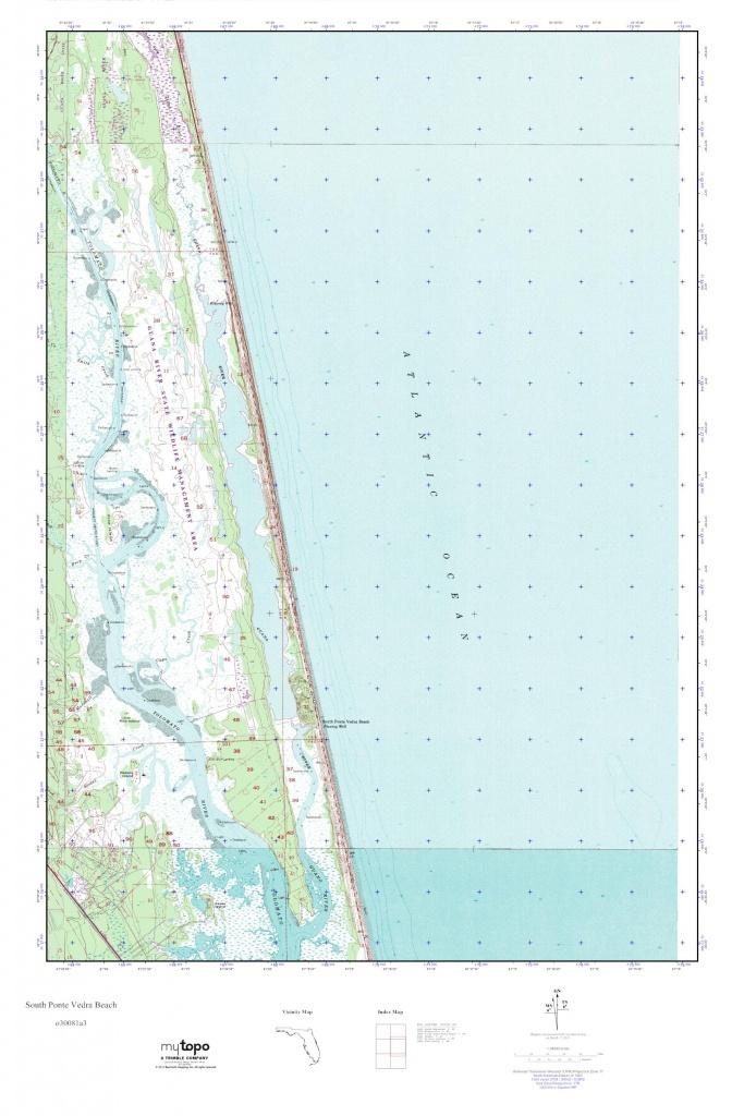 Mytopo South Ponte Vedra Beach, Florida Usgs Quad Topo Map - Ponte Vedra Florida Map