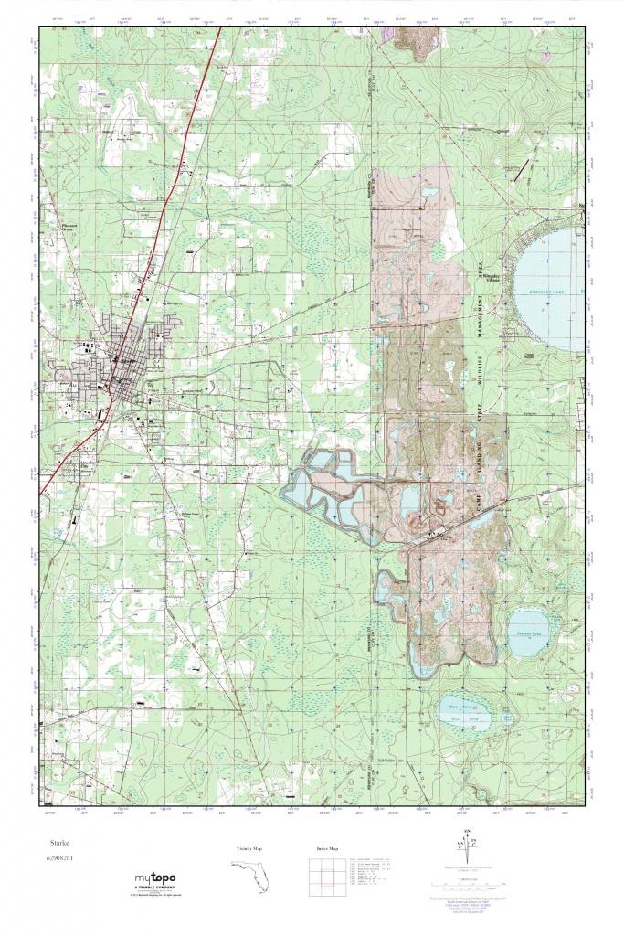 Mytopo Starke, Florida Usgs Quad Topo Map - Starke Florida Map