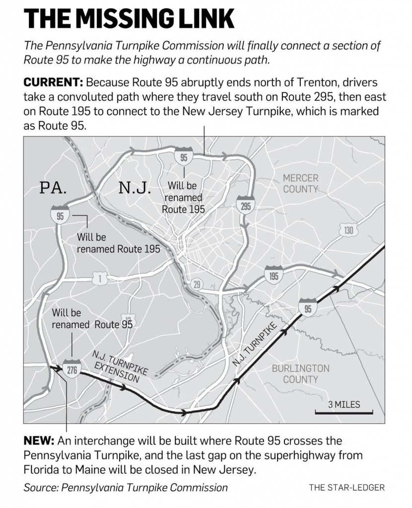 N.j., Pennsylvania Officials Plan To Close Longtime Gap On Route 95 - Map Of I 95 From Nj To Florida