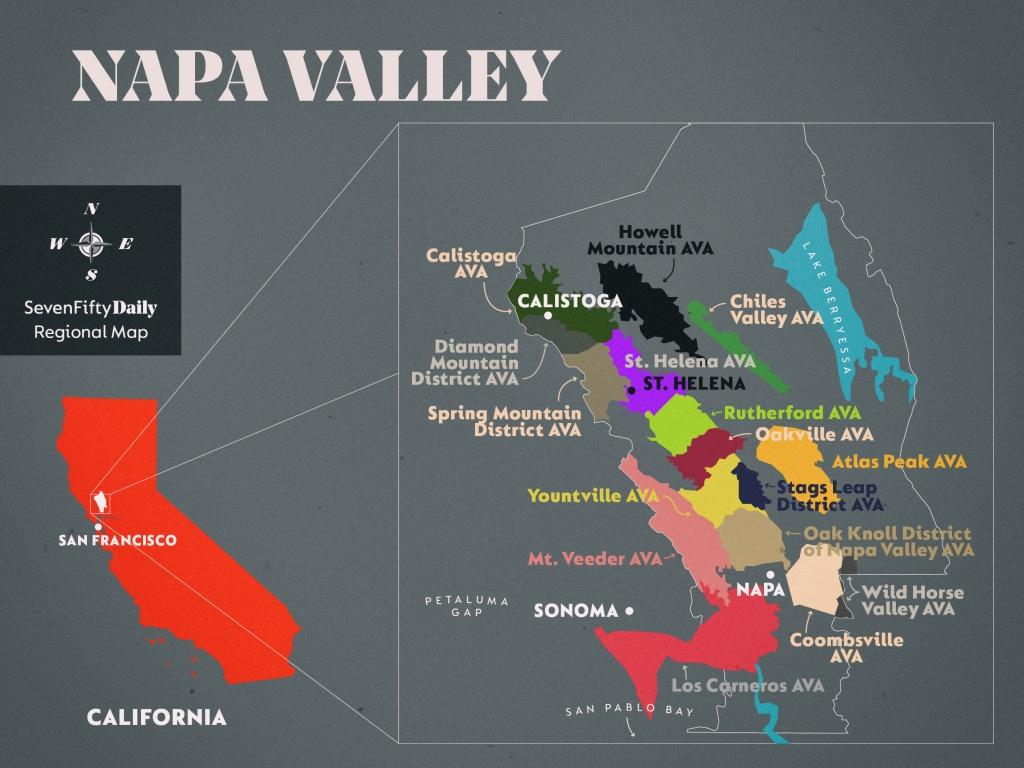 Napa Valley | Sevenfifty Daily - California Ava Map