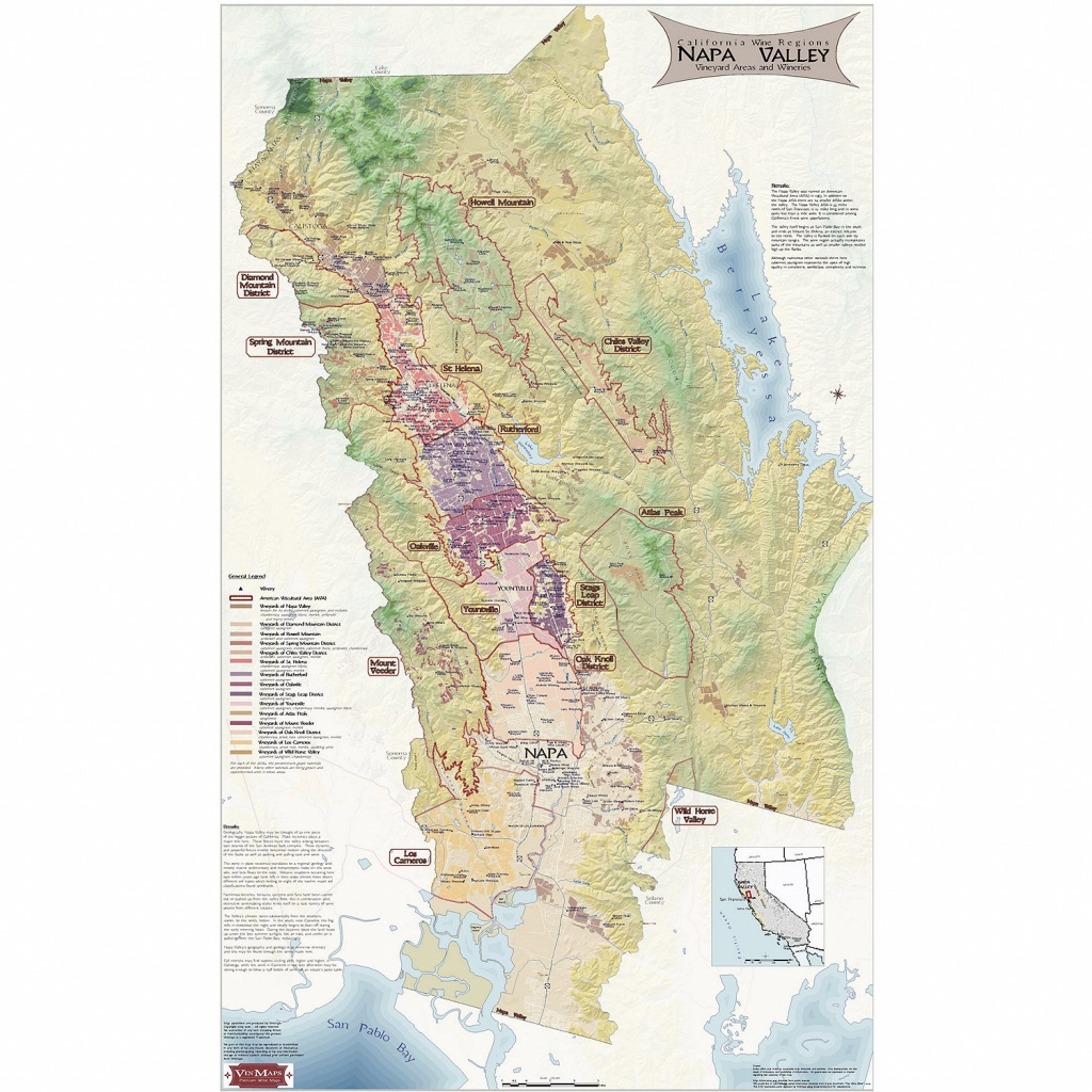 Napa Valley Wine Map - Wine Enthusiast - Napa California Map