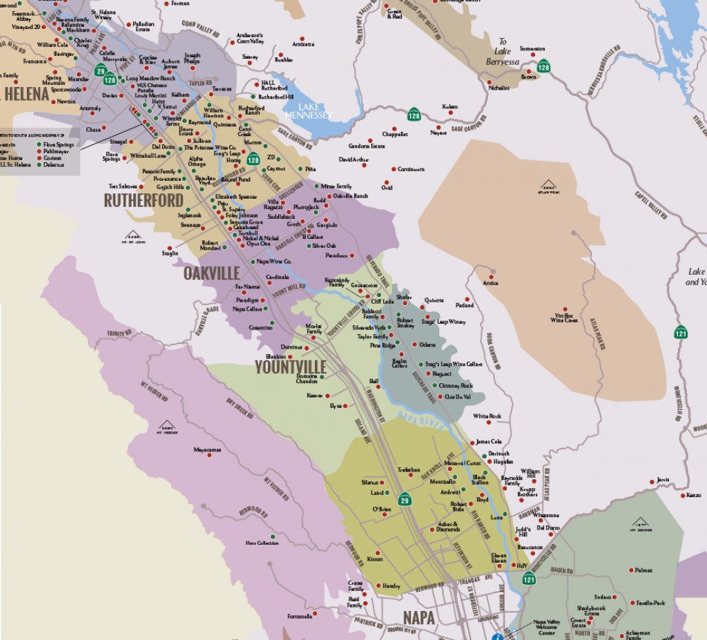 Napa Valley Winery Map | Plan Your Visit To Our Wineries - California Wine Tours Map