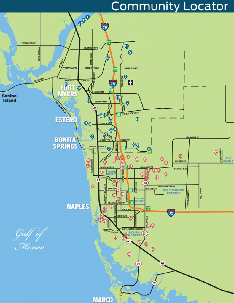 Naples Daily News Community Locator Map - Map Of Bonita Springs And Naples Florida